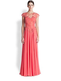 Teri Jon - Lace Applique Gown