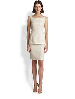 Teri Jon - Mock Two-Piece Cocktail Dress