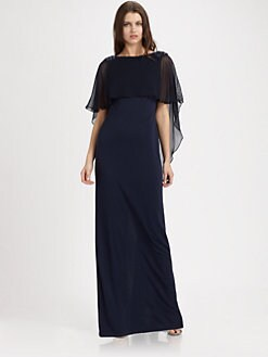 Teri Jon - Silk Chiffon Gown