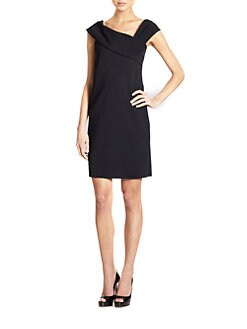 Teri Jon - Asymmetrical Neckline Dress