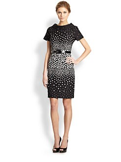 Teri Jon - Belted Dot Dress