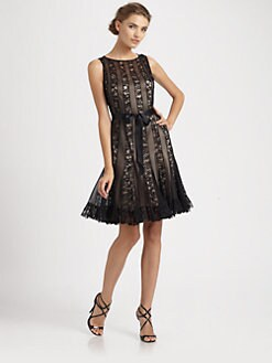 Teri Jon - Lace Inset Dress