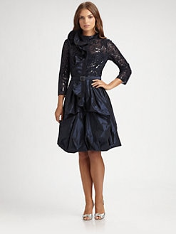 Teri Jon - Sequined Taffeta Dress