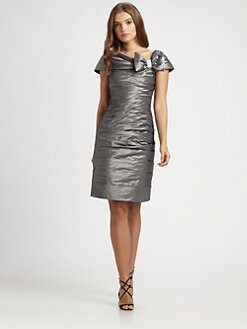Teri Jon - Taffeta Bow Dress