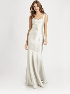 Teri Jon - Belted Gazar Gown