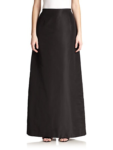 Taffeta A-Line Long Skirt $136.20 AT vintagedancer.com