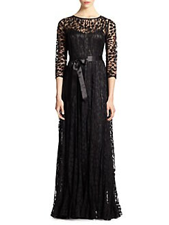 Teri Jon - Lace Pintuck Gown