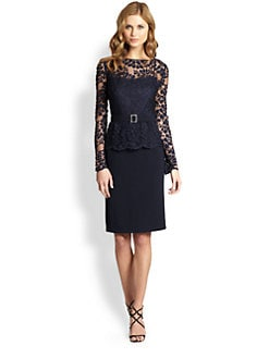 Teri Jon - Lace Illusion Dress