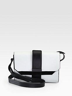 Narciso Rodriguez - Leather & Suede Colorblock Shoulder Bag