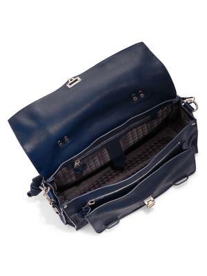 Proenza Schouler Ps1 Medium Leather Shoulder Bag, Smoke