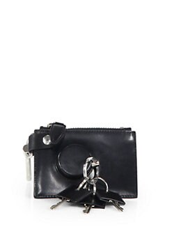 Alexander Wang - Runway Zip Pouch with Key Ring/Silvertone