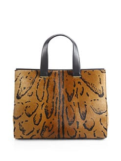 Giorgio Armani - Leopard-Print Calf Hair Medium Shopper