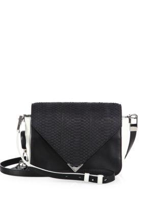 Prisma Small Leather & Python Envelope Shoulder Bag