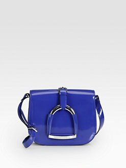 Ralph Lauren Collection - Spazzolato Polished Leather Stirrup Shoulder Bag