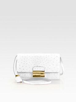 Michael Kors - Gia Ostrich Stamped Leather Clutch