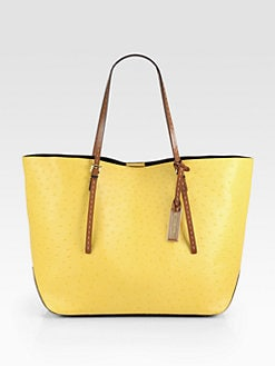 Michael Kors - Gia Ostrich-Stamped Leather Tote