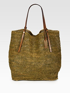 Michael Kors - Crocheted Raffia North South Tote