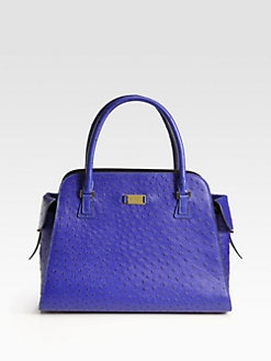 Michael Kors - Gia Ostrich Stamped Leather Satchel