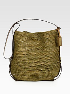Michael Kors - Santorini Large Crocheted Raffia Crossbody