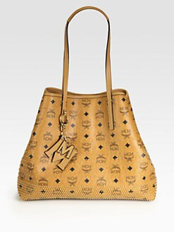 MCM - East West Medium Studded Shopper