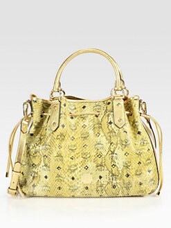 MCM - Armour Drawstring Shopper Tote