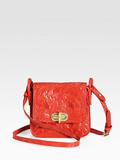 Ralph Lauren Collection - Floral Tooled Crossbody Bag