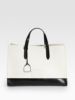 Ralph Lauren Collection - Equestrian Bicolor Large Saddle Tote