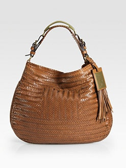 Ralph Lauren Collection - Stirrup Handle Large Woven Hobo