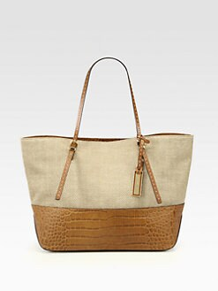 Michael Kors - Gia Colorblock Crocodile Embossed Leather Tote