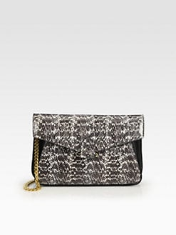 Derek Lam - Francis Snakeskin Convertible Clutch