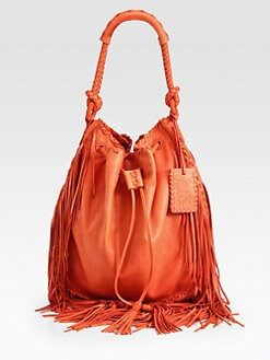 Ralph Lauren Collection - Fringed Drawstring Bag