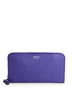 Giorgio Armani - Saffiano Zip-Around Wallet