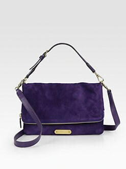 Ralph Lauren Collection - Suede Fold-Over Convertible Clutch