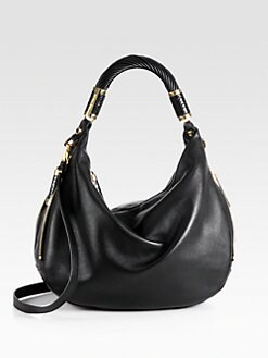 Michael Kors - Tonne Python-Trimmed Leather Hobo