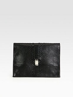 Proenza Schouler - Lunch Bag Large Python Clutch