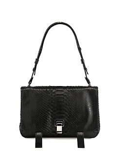 Proenza Schouler - PS Courier Python Shoulder Bag