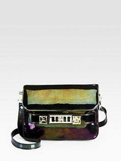 Proenza Schouler - PS11 Oil Slick Patent Leather Mini Classic Shoulder Bag