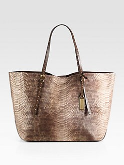 MICHAEL MICHAEL KORS - Gia Python-Embossed Leather Tote