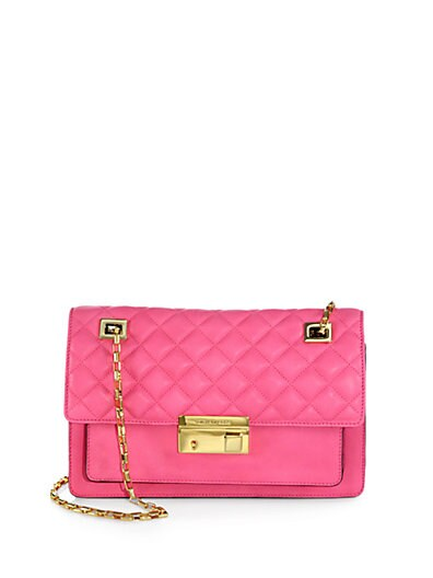 Gia Quilted Leather Shoulder Bag