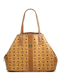 MCM - Liz Reversible Canvas & Leather Shopper Bag