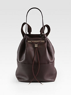 The Row - Convertible Hobo Backpack/Pebbled Leather