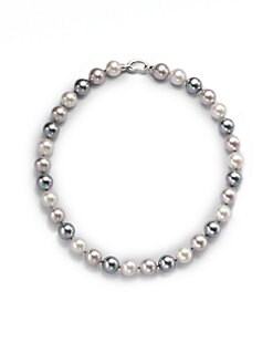 Majorica - 12MM Multicolor Pearl Necklace/17
