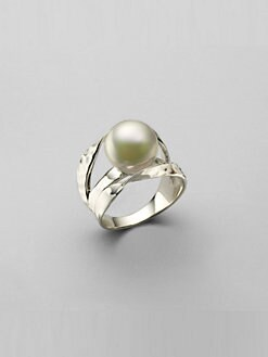 Majorica - 12MM White Pearl Ribbon Ring