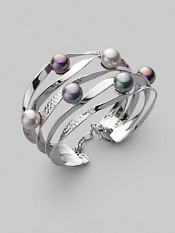 Majorica - 10MM Multicolor Pearl & Sterling Silver Bracelet