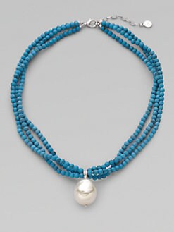 Majorica - 22MM Baroque Pearl Beaded Necklace