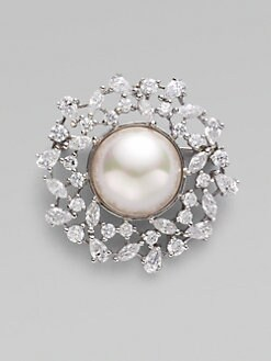 Majorica - 16MM Pearl Wreath Pin
