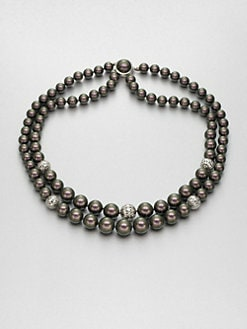 Majorica - 8MM-12MM Tahitian Pearl Double-Row Necklace