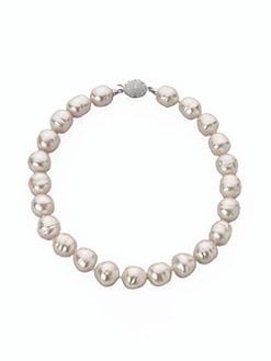 Majorica - 16MM White Baroque Pearl Necklace/17