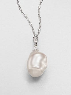 Majorica - 22MM Baroque Pearl and Sterling Silver Necklace