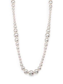 Majorica - 14MM White Round Pearl Strand Necklace/16